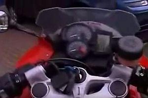 Garagenöffner für ein Motorrad