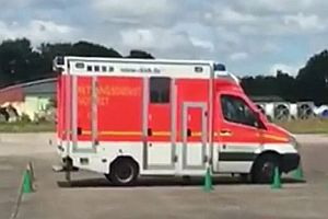 Fahrübung mit einem Krankenwagen