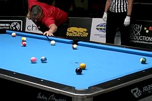 Perfekte 8-Ball Billard Runde