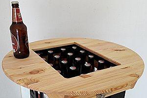 Tischplatte für eine Bierkiste