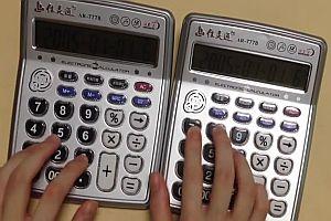 Despacito mit zwei Taschenrechnern