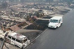 Postlieferung nach einem Großfeuer