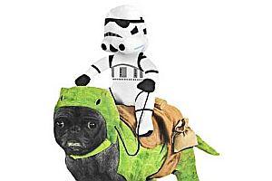 Taurücken mit Stormtrooper Hundekostüm