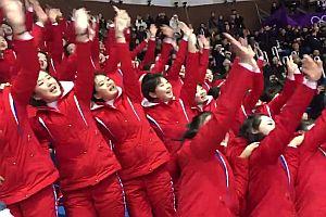 Nordkoreas Cheerleader bei Olympia