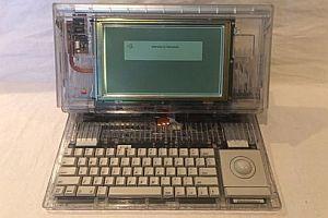 Durchsichtiger Prototyp eines Apple Notebooks