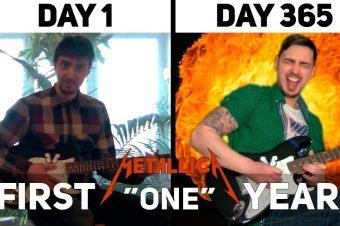 Ein Jahr Gitarre üben