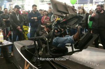 Begeisterter VR-Rennfahrer