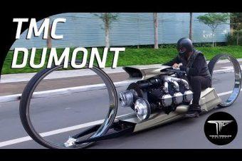 Motorrad mit Flugzeugmotor