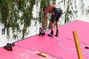 Blaskapelle bekommt Hilfe vom Dachdecker