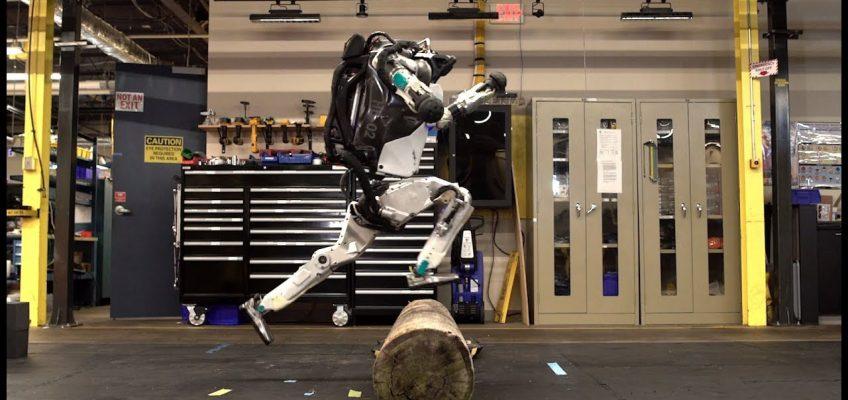 Roboter kann Parkour