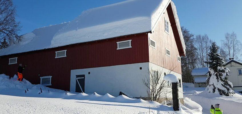 Dach von Schnee befreien