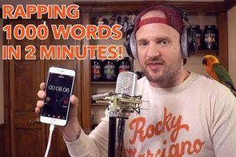 Rap mit 1000 Wörter in 2 Minuten