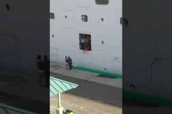 Zu spät beim Kreuzfahrtschiff