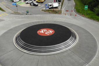 Kreisverkehr als Schallplatte