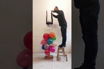 Luftballons platzen lassen
