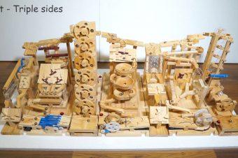 Automatische Murmelbahn aus Holz