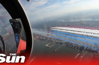 Flug mit den Red Arrows