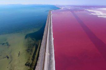 Die Farben eines Salzsees