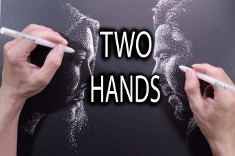 Mit zwei Händen gleichzeitig Zeichnen