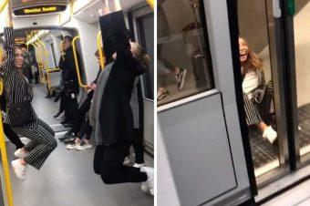 Abhängen im Zug
