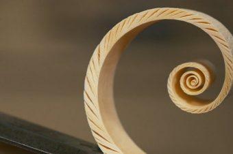 Spiralen aus Holz
