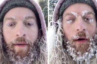 Ein Bart bei -26 Grad
