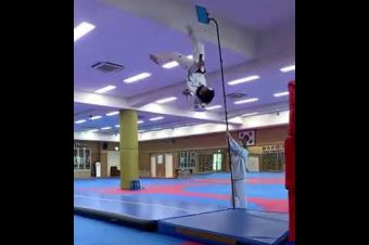 Hoher Taekwondo-Sprung