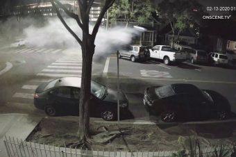Sprung über einen Kreisverkehr