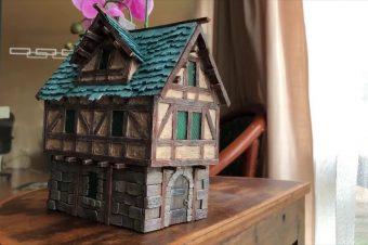 Haus aus Eisstielen