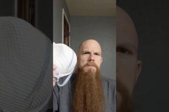 Lange Bartträger brauchen keine Schutzmaske