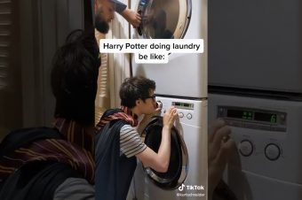 Harry Potter Titelmusik mit einer Waschmaschine