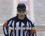 Eishockey-Schiedsrichter mit Style