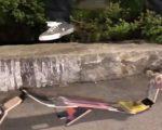 Ein faltbares Skateboard